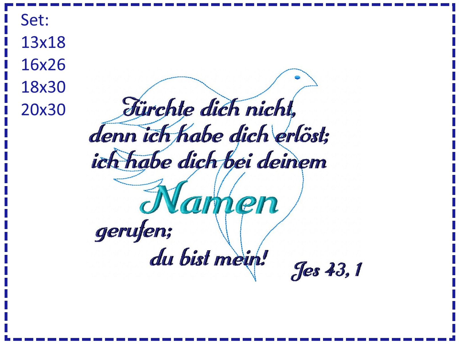 Tante Kete Taufe Spruch Taube Set
